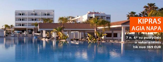 Skriskite į saulėtąjį Kiprą! Savaitė gerame 4* viešbutyje su pusryčiais ir vakarienėmis - dabar tik nuo 369 EUR! Data: 2017 m. spalio 19 d.