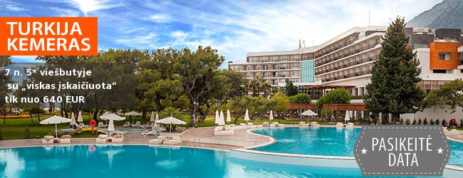 """Prabangus poilsis TURKIJOJE! Savaitė labai gerame 5* viešbutyje RIXOS BELDIBI su maitinimu """"viskas įskaičiuota"""" - tik nuo 345 EUR! Kelionės data: 2018 m. balandžio 8 d."""