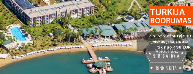 """Itin gera kaina! Pasilepinkite TURKIJOJE: savaitė 5* viešbutyje su """"viskas įskaičiuota"""" - vos nuo 414 EUR! Kelionės data: 2017 m. birželio 16 d."""