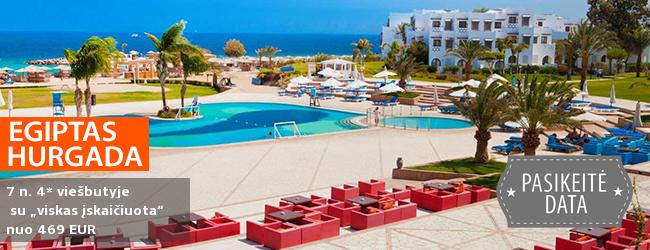 """Prabangiai sušilkite Egipte, Hurgadoje! Savaitė labai gerame 4* viešbutyje su """"viskas įskaičiuota"""" - nuo 446! Kelionės data: 2017 m. lapkričio 30 d."""
