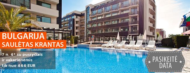 Saulėtas poilsis Bulgarijoje! Savaitė gerame 4* viešbutyje, įsikūrusiame Saulėtojo Kranto kurorte, su pusryčiais ir vakarienėmis - tik nuo 323 EUR! Kelionės data: 2018 m. rugpjūčio 29 d.