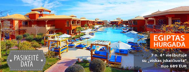 """Per atostogas šildykitės EGIPTE, Hurgadoje! Savaitė labai gerame 4* viešbutyje su daug pramogų ir """"viskas įskaičiuota"""" - tik nuo 447 EUR! Išvykimas: 2018 m. gruodžio 2 d."""