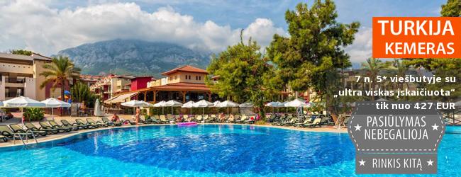"""Šilta gegužė gerame 5* viešbutyje TURKIJOJE! Savaitė su """"ultra viskas įskaičiuota"""" tik nuo 421 EUR. Išvykimo data: 2017 m. gegužės 4 d."""