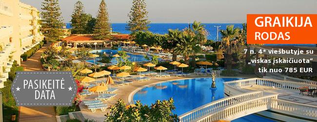 """Ar ne idealios atostogos: komfortiškai poilsiaukite apsupti intriguojančios kultūros RODO SALOJE! Savaitė labai gerame 4* viešbutyje su """"viskas įskaičiuota"""" - tik nuo 453 EUR. Kelionės data: 2017 m. gegužės 5 d."""