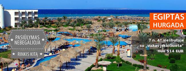 """Viskuo pasirūpinta: paskutinėmis kovo dienomis šildykitės komforto oazėje EGIPTE! Savaitė labai gerame 4* viešbutyje su """"viskas įskaičiuota"""" - tik nuo 482 EUR. Kelionės data: 2017 m. kovo 21 d."""