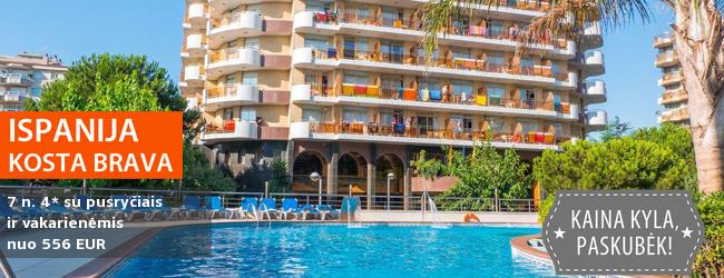 Saulėtos vasaros atostogos ISPANIJOJE, Kosta Bravos pakrantėje! Įsimintina savaitė 4* viešbutyje su pusryčiais ir vakarienėmis tik nuo 421 EUR! Išvykimo data: 2017 m. birželio 6 d.
