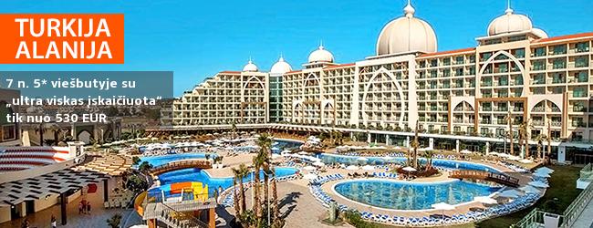 """Pramogaukite su šeima TURKIJOJE! Savaitė prabangiame ALAN XAFIRA DELUXE 5* viešbutyje su """"ultra viskas įskaičiuota"""" - vos nuo 523 EUR. Išvykimo data: 2017 m. spalio 25 d."""