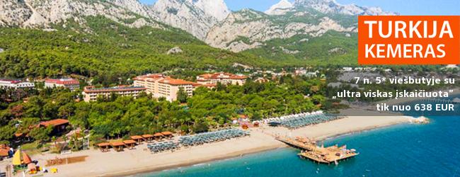 """Atostogaukite prabangioje pasakoje ant vaizdingo jūros kranto TURKIJOJE! Savaitės poilsis labai gerame 5* viešbutyje AKKA ANTEDON HOTEL su """"ultra viskas įskaičiuota"""" - tik nuo 697 EUR! Išvykimas: 2017 m. rugpjūčio 28 d."""