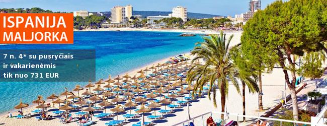 Poilsis MALJORKOJE! Atostogaukite aktyviausiame saloje Magalufo kurorte, ant saulėto jūros kranto! Savaitė gerame 4* viešbutyje su pusryčiais ir vakarienėmis - vos nuo 390 EUR! Kelionės data: 2018 m. gegužės 29 d.