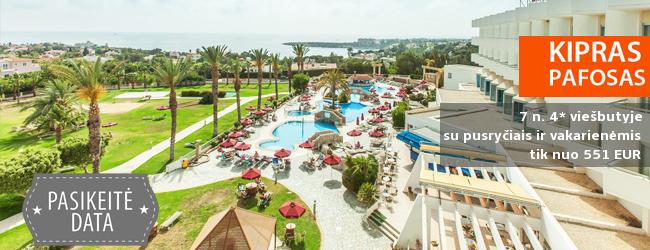 Mėgaukitės saulėtu oru KIPRE - poilsiaukite populiariame kurorte su SPA, šalia Europos kultūros sostinės! Savaitė labai gerame 4* viešbutyje su pusryčiais ir vakariene - tik nuo 390 EUR! Kelionės data: 2017 m. birželio 1 d.