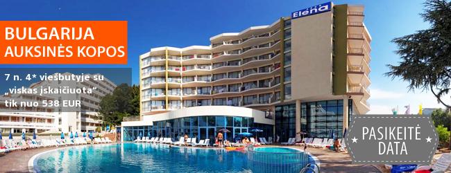 """Pasakiškos atostogos paplūdimiais garsėjančiame Auksinių kopų kurorte! Savaitė BULGARIJOJE 4* viešbutyje su """"viskas įskaičiuota"""" - tik nuo 282 EUR! Kelionės data: 2018 m. birželio 12 d."""