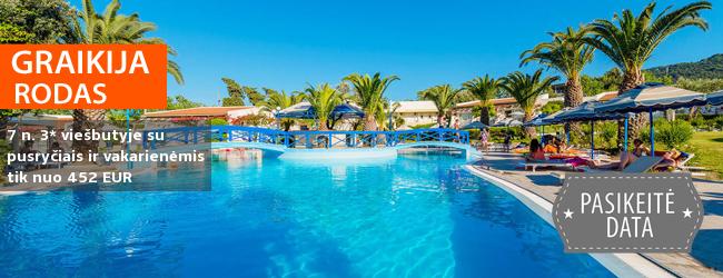 Atostogos saulėtoje RODO saloje Graikijoje! Savaitės poilsis jaukiame 4* viešbutyje su pusryčiais ir vakarienėmis - tik nuo 450 EUR! Kelionės data: 2017 m. rugpjūčio 25 d.