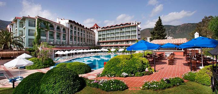 Romantiškas poilsis žalumos apsuptyje ant jūros kranto Marmaryje, TURKIJOJE! Savaitė kokybiškame 4* viešbutyje MARTI LA PERLA.
