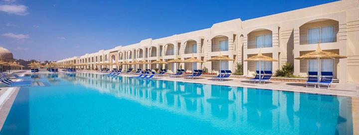 Rytietiško stiliaus atostogos su vandens parku EGIPTE! Savaitės poilsis 5* viešbutyje prie koralinio paplūdimio.