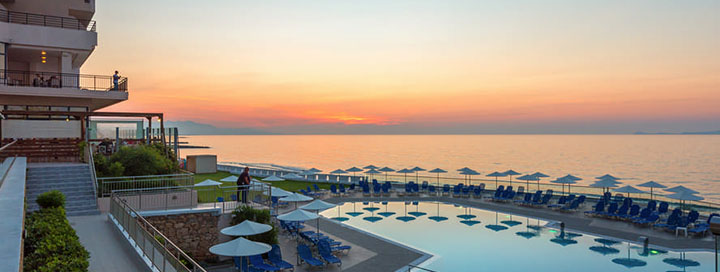 Saulėtos atostogos KRETOS saloje! Savaitė jaukiame 4* viešbutyje THEMIS BEACH ant jūros kranto.