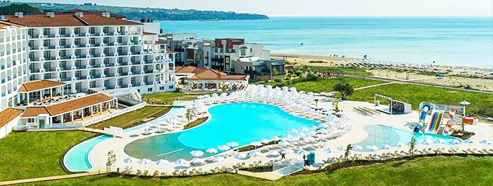 Smagios šeimos atostogos Obzore, BULGARIJOJE! Savaitės poilsis naujame SUNRISE BLUE MAGIC RESORT 4* viešbutyje ant jūros kranto.