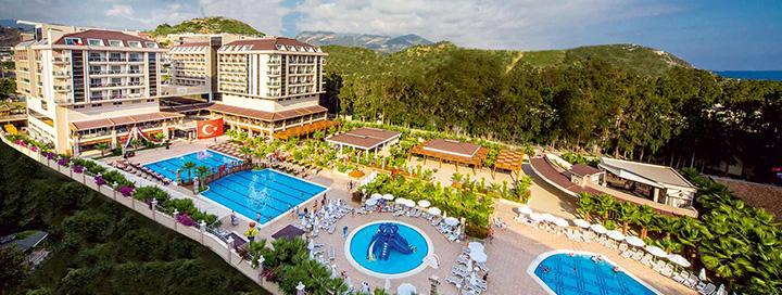 Pramogų kupinos šeimos atostogos prie jūros TURKIJOJE, Alanijos regione! 7 n. 5* viešbutyje DIZALYA PALM GARDEN.