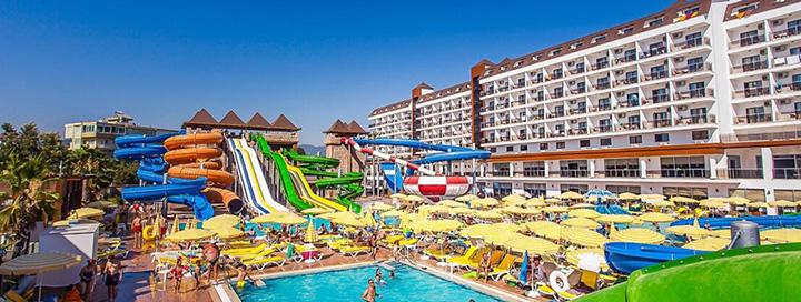 Pramogaukite su šeima saulėtoje TURKIJOJE, Alanijos regione! 7 n. atostogos 5* viešbutyje EFTALIA SPLASH RESORT.