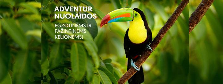 Adventur NUOLAIDOS! Egzotinės ir pažintinės kelionės pigiau! Rinkitės keliones iki sausio 31 d. ir sutaupykite!