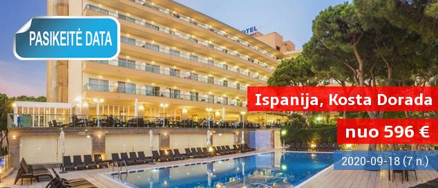 Vasarą sutikite anksčiau - viename populiariausių ISPANIJOJE Salou kurorte! Savaitė gražiame 4* viešbutyje šalia paplūdimio su pusryčiais ir vakarienėm - vos nuo 470 EUR! Data: 2017 m. gegužės 27 d.