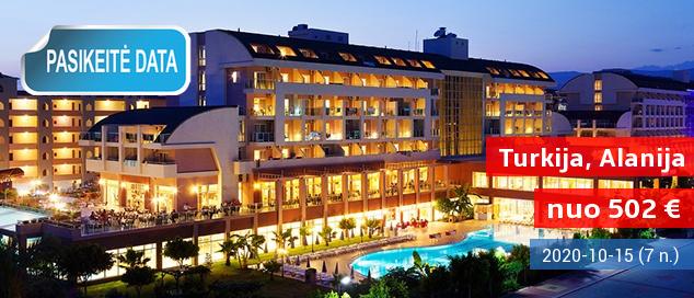 """Mėgaukitės atostogomis prie jūros TURKIJOJE, Alanijos regione! 8 naktys jaukiame 5* viešbutyje su """"viskas įskaičiuota"""" - tik nuo 462 EUR! Išvykimo data: 2017 m. birželio 29 d."""