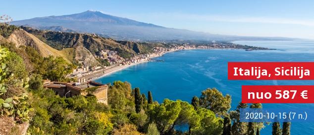Nuostabi pakrantė Sicilijoje: mėgaukitės šilta salos atmosfera ir kurorto pramogomis! Savaitė populiariame 4* viešbutyje su pusryčiais ir vakarienėmis - nuo 440 EUR! Kelionės data: 2017 m. gegužės 31 d.