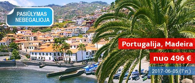 Praleiskite nuostabias atostogas vaizdingoje MADEIROS saloje! Savaitė stilingame 4* viešbutyje su pusryčiais - vos nuo 496 EUR! Kelionės data: 2017 m. birželio 5 d.