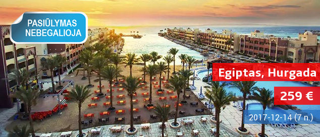 """Saulė bei pramogos Egipte, prie Raudonosios jūros! Net dvi savaitės atostogų gerai vertinamame 4* viešbutyje su """"viskas įskaičiuota"""" tik 580 EUR! Išvykimas: 2017 m. birželio 20 d."""