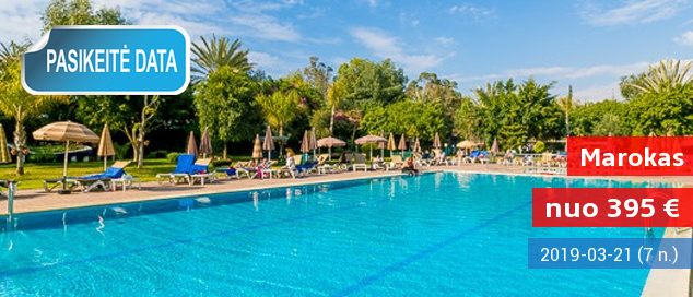 Egzotiškas poilsis MAROKE, Agadyro kurorto centre! Savaitė puikioje vietoje šalia paplūdimio įsikūrusiame 4* viešbutyje su pusryčiais ir vakariene - tik nuo 393 EUR! Kelionės data: 2017 m. gruodžio 6 d.