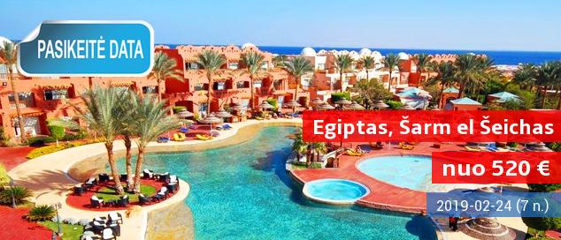"""Puikiai turistų įvertintas viešbutis ir graži aplinka EGIPTO Šarm el Šeicho kurorte! Savaitė gerame 5* viešbutyje su vandens kalneliais ir maitinimo tipu """"viskas įskaičiuota"""" - vos nuo 433 EUR! Data: 2017 m. gruodžio 13 d."""