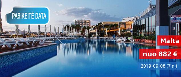 Žavios atostogos MALTOJE ant jūros kranto! Savaitė labai gerai vertinamame 4* viešbutyje su pusryčiais ir vakarienėmis - vos nuo 285 EUR! Išvykimo data: 2017 m. gruodžio 3 d.