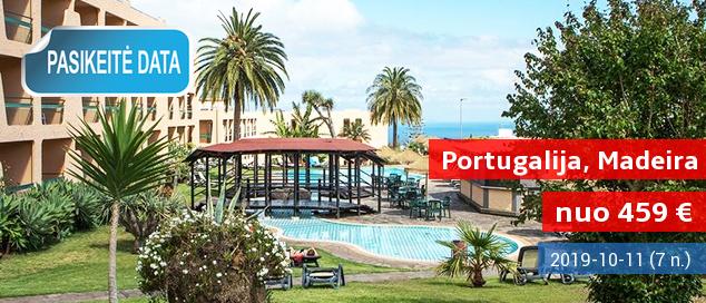 Praleiskite nuostabias atostogas vaizdingoje MADEIROS saloje, Portugalijoje! Savaitė  4* viešbutyje su pusryčiais - nuo 551 EUR! Kelionės data: 2017 m. rugsėjo 23 d.