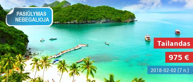 Įspūdinga kelionė į TAILANDĄ, pažintinės programos ir poilsis dviejuose kurortuose - Bankoke ir Patajoje! 15 dienų kelionė su skrydžiu, apgyvendinimu ir pusryčiais - tik nuo 975 EUR! Išvykimo data: 2017 m. gruodžio 1 d.