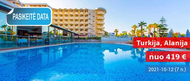 """Mėgaukitės aukštos klasės komfortu TURKIJOJE! Savaitė 5* viešbutyje su """"viskas įskaičiuota"""" - tik nuo 284 EUR! Išvykimas: 2017 m. rugsėjo 9 d."""