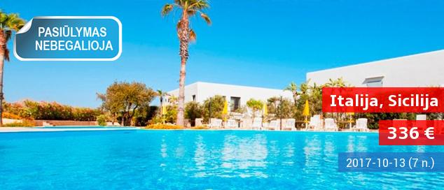 Žavingos atostogos SICILIJOJE su privačiu paplūdimiu! Savaitė jaukiame 4* viešbutyje su pusryčiais ir vakarienėmis - dabar tik 334 EUR! Kelionės data: 2017 m. rugsėjo 27 d.