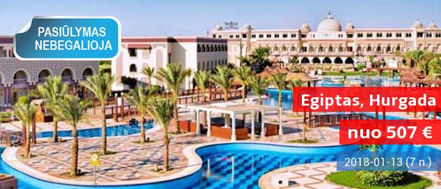 Saulėtos atostogos su šeima EGIPTE, Hurgadoje! Savaitės poilsis 5* gerai vertinamame viešbutyje prie jūros tik nuo 470 EUR! Išvykimas: 2018 m. sausio 6 d.