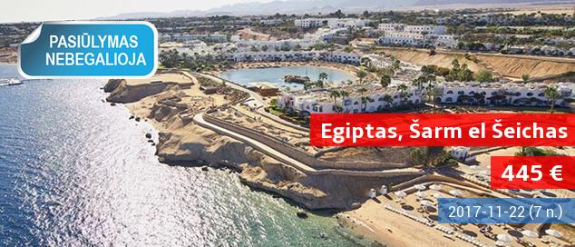 """Pramogos ir jūra EGIPTO Šarm el Šeicho kurorte! Savaitė gerai vertinamame 5* viešbutyje su """"viskas įskaičiuota"""" - vos nuo 445 EUR! Data: 2017 m. lapkričio 14 d."""