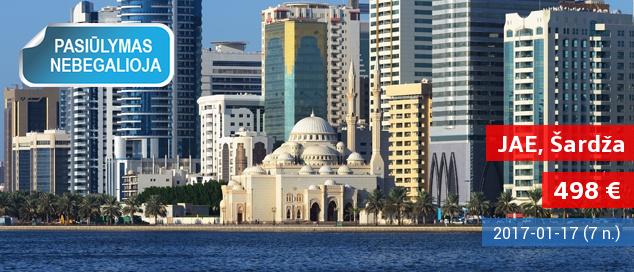 Išskirtinės atostogos tolimuosiuose Jungtinių Arabų Emyratuose. 7 nakvynės 5* viešbutyje tik nuo 604 EUR! Kelionės data: 2017-01-10