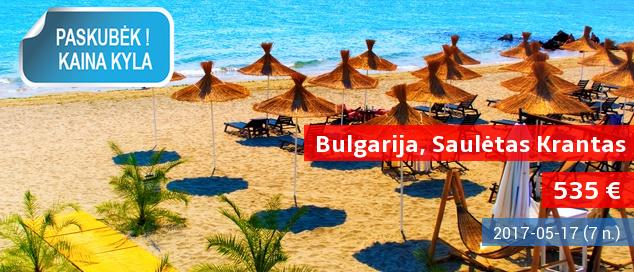 Pavasarį keliaujame į Bulgariją! Savaitės atostogos 4* viešbutyje su pusryčiais ir vakarienėmis tik 359 EUR. Kelionės data: 2017-05-17