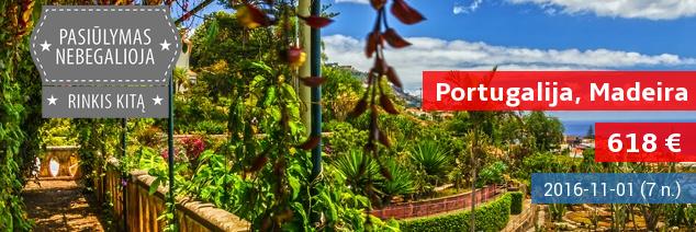 Atostogos stebuklingo kraštovaizdžio Portugalijos saloje – Madeiroje. Savaitė 4* viešbutyje su pusryčiais ir vakarienėmis tik 618 EUR! Išvykimas: lapkričio 1 d. Skrydis iš Varšuvos!