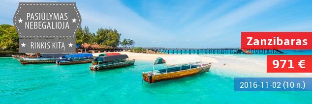 Egzotiškos atostogos magiškoje Afrikos žemyno saloje – Zanzibare! Skrydis ir 10 nakvynių gerame 4* viešbutyje su pusryčiais ir vakarienėmis tik 1229 EUR! Kelionės data: lapkričio 2 d.