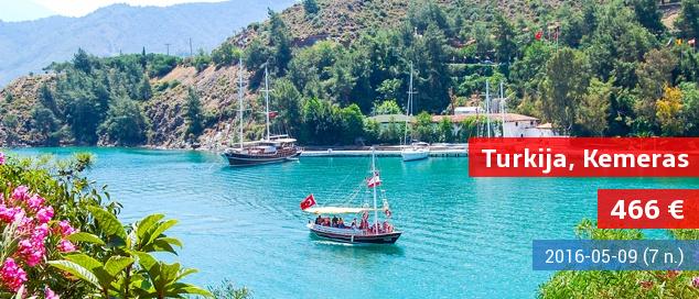 """Svajonių atostogos labai gerame 4* viešbutyje Turkijoje! 7 nakvynės su """"ultra viskas įskaičiuota"""" tik 331 EUR! Kelionės data: 2017 m. gegužės 3 d."""