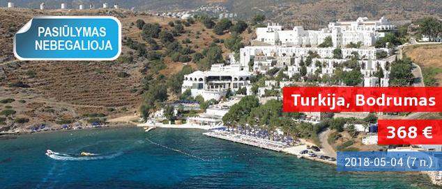 """Romantiškas poilsis vaizdingoje pakrantėje įsikūrusiame 5* viešbutyje Turkijoje! 7 nakvynės su """"viskas įskaičiuota"""" tik 389 EUR. Data: 2017 m. gegužės 26 d."""