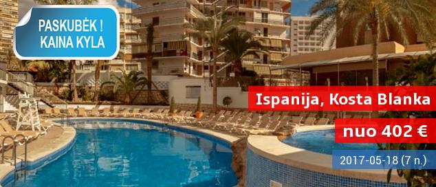Modernios atostogos Ispanijoje: savaitė labai gerame 4* viešbutyje Kosta Blanka pakrantėje su pusryčiais ir vakariene – tik nuo 402 EUR! Kelionės data: 2017 m. gegužės 18 d.