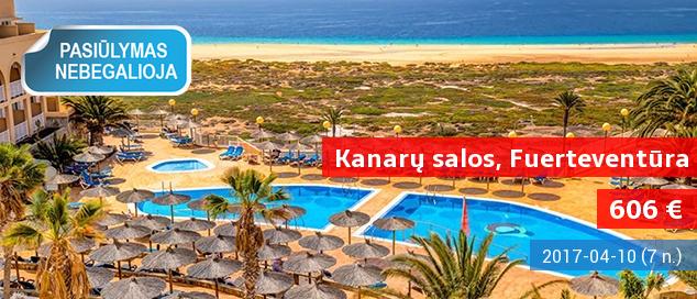 """NEPAMIRŠTAMOS PAVASARIO ATOSTOGOS išskirtinio grožio Kanarų saloje – Fuerteventūroje. 7 nakvynės su """"viskas įskaičiuota"""" tik nuo 568 EUR! Išvykimas: 2017 m. kovo 25 d."""