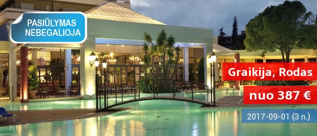 Autentiškos vasaros atostogos Rodo saloje: savaitė jaukiame 4* viešbutyje su pusryčiais tik nuo 385 EUR! Kelionės data: 2017 m. liepos 3 d.
