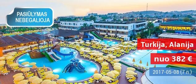 """ŠEIMOS ATOSTOGOS 5* viešbutyje Turkijoje! Savaitė su maitinimo tipu """"viskas įskaičiuota"""" tik nuo 382 EUR! Išvykimas: 2017 m. gegužės 8 d."""