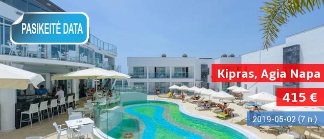 Išskirtinės atostogos populiariausiame Kipro salos kurorte – Agia Napoje! Savaitė stilingame 4* viešbutyje su pusryčiais ir vakarienėmis - tik nuo 384 EUR. Kelionės data: 2017 m. spalio 19 d.