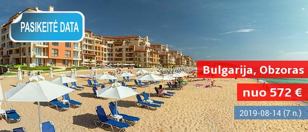 Rugpjūčio pabaiga saulėtoje BULGARIJOJE! 7 nakvynės 4* viešbutyje ant jūros kranto su pusryčiais ir vakarienėmis tik nuo 418 EUR. Kelionės data: 2017 m. rugpjūčio 28 d.