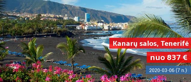 Gegužės pradžia egzotiškoje Kanarų saloje – TENERIFĖJE! Įsimintina savaitė gerame 3* viešbutyje  su pusryčiais ir vakarienėmis tik nuo 538 EUR! Išvykimo data: 2017 m. gegužės 1 d.